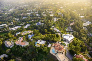 aerial shot of apex homes.