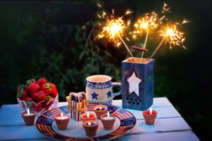 a festive smorgasbord designed for Independence Day